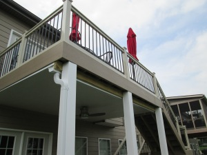 Elevated Deck with Underdecking by Archadeck, St. Louis Mo