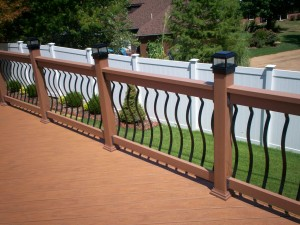 Deck with Baroque Balusters and Lighting, St. Louis Mo, Archadeck