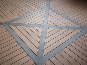 TimberTech Earthwood Evolutions Teak with Walnut Inlays by Archadeck