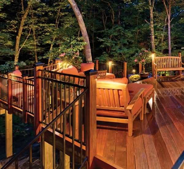 Deck With Built In Lighting By Archadeck