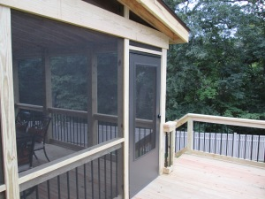 Pressure Treated Wood Screened In Deck, St. Louis Mo, by Archadeck
