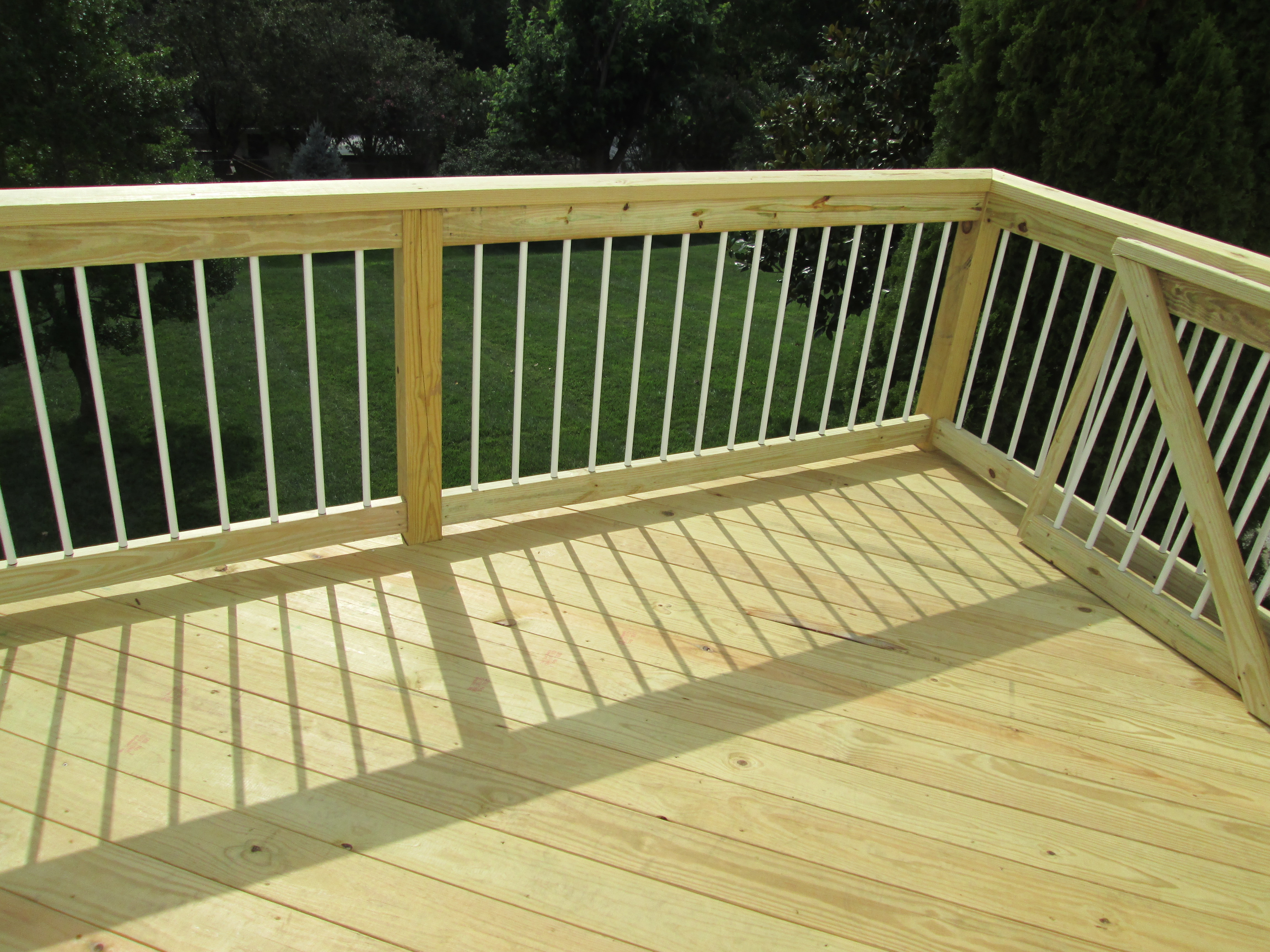 Pressure treated lumber for decks or screened porches by for Which timber for decking