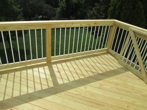 Pressure Treated Wood Deck by Archadeck, St. Louis Mo