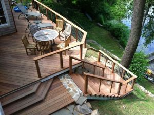 Multilevel Deck with Cable Railing by Archadeck