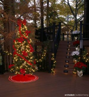 Deck by Archadeck with Holiday Decorations