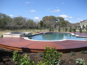 Hardwood Pool Deck by Archadeck