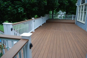 Low Maintenance Multilevel Deck by Archadeck