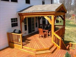 Cedar Deck and Covered Porch by Archadeck