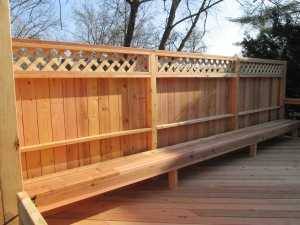 Cedar Deck and Privacy Wall by Archadeck, St. Louis Mo