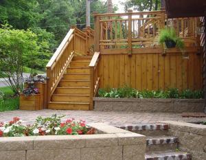Cedar Deck with Decorative Rails by Archadeck