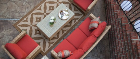 Casuwel Outdoor Furniture and Rug
