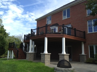 Elevated Deck with Open Porch Beneath, by Archadeck