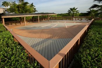 Large Deck with Elaborate Deck Board Pattern by Archadeck