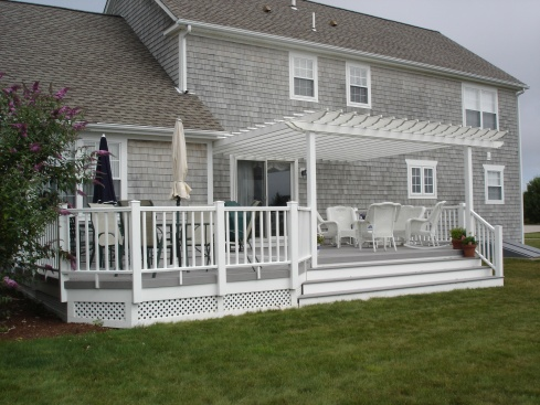 Attached Partial Deck Pergola by Archadeck