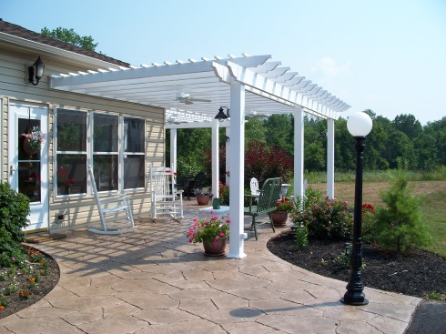 Attached Pergola over Patio by Archadeck