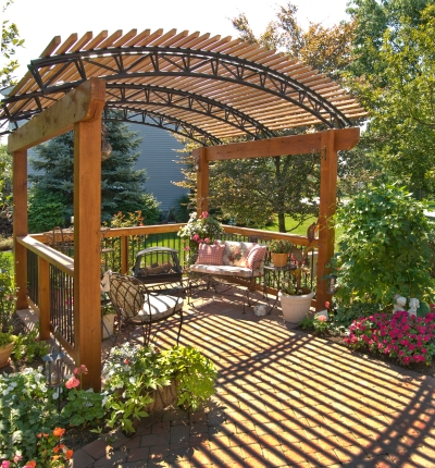 Free Standing Wooden Garden Pergola by Archadeck
