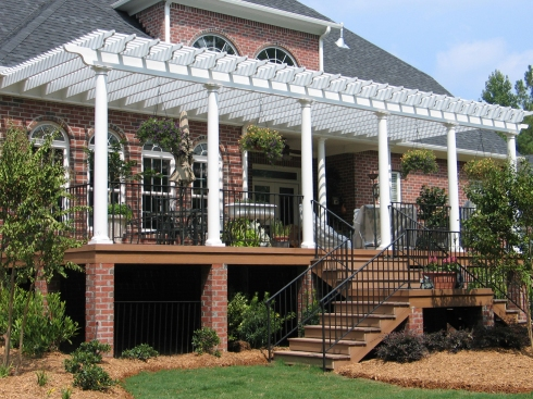 Large Attached Deck Pergola by Archadeck