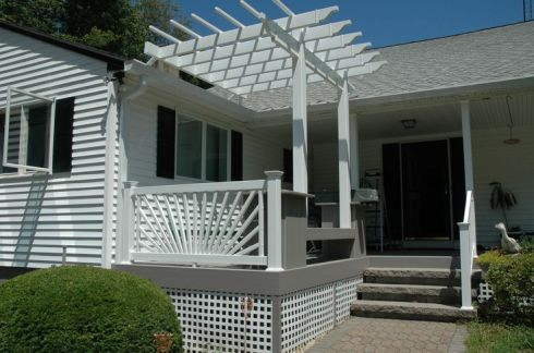 Front Porch Deck with Pergola by Archadeck