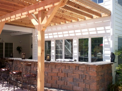 Space Defining Pergola for Outdoor Kitchen and Dining, by Archadeck, St. Louis West County