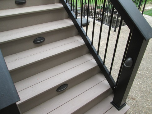 Built-in Deck Lighting for Rails and Steps, St. Louis West County, by Archadeck