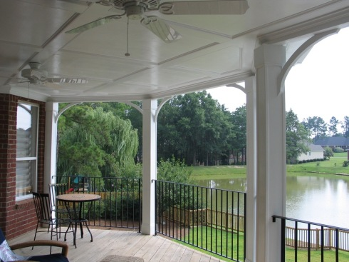 Covered Porch with Ceiling Lights and Fan, by Archadeck