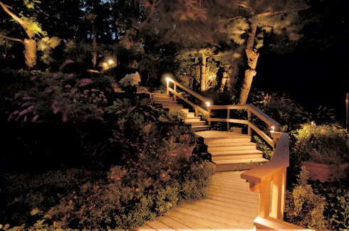 Deck Lighting for Safety and Aesthetics, Photo courtesy of Outdoor Lighting Perspectives