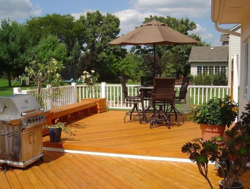 Deck with Outdoor Dining and Grilling, by Archadeck