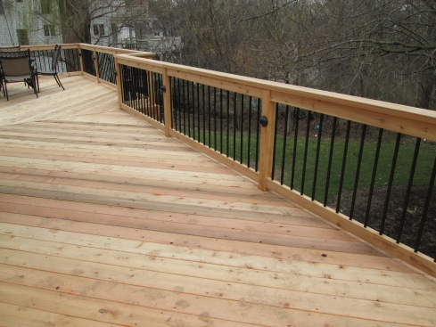 Deck with Railing Accent Lights, St. Louis Mo, by Archadeck