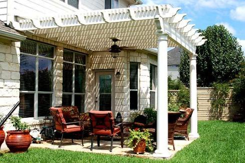 Patio Pergola with Overhead Lighting by Archadeck