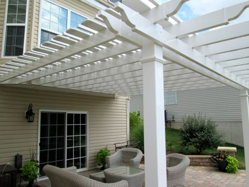 Shade Pergola for Backyard Patio by Archadeck, St. Louis Mo