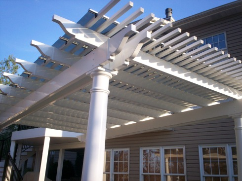 Shade Pergola with Solar Panel, St. Louis Mo, by Archadeck