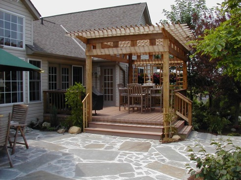 Small Deck with Pergola by Archadeck