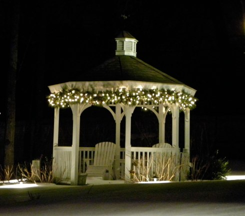 String Lights for Gazebo, photo courtesy of Outdoor Lighting Perspectives