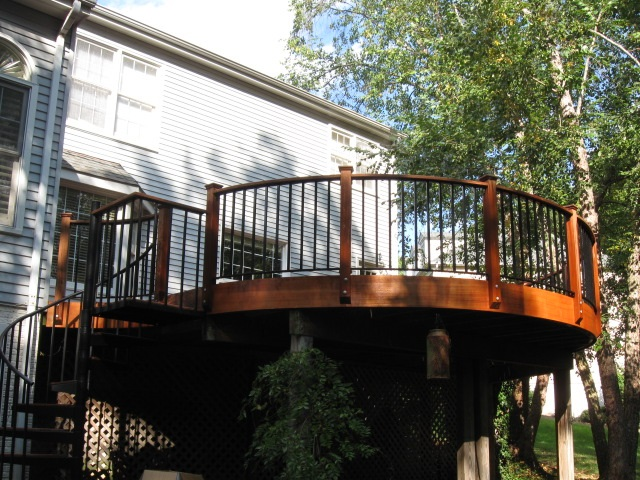 how to build a curved deck railing