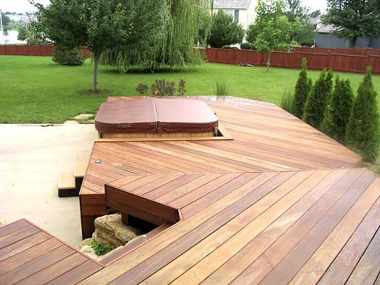 The 5 most popular deck designs explained by archadeck for Hot tub deck plans