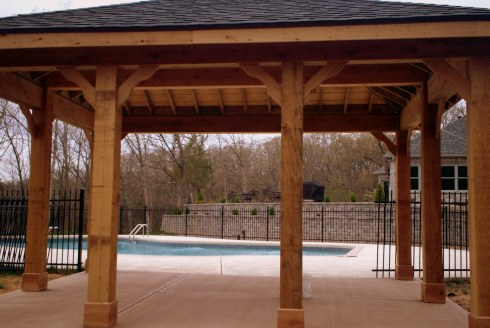 Poolside Covered Patio, St. Louis, Mo by Archadeck