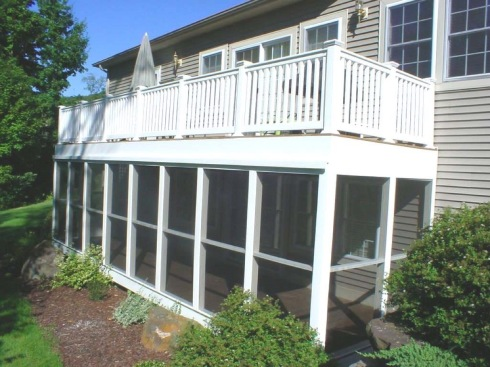 Screened In Under Deck Enclosure by Archadeck