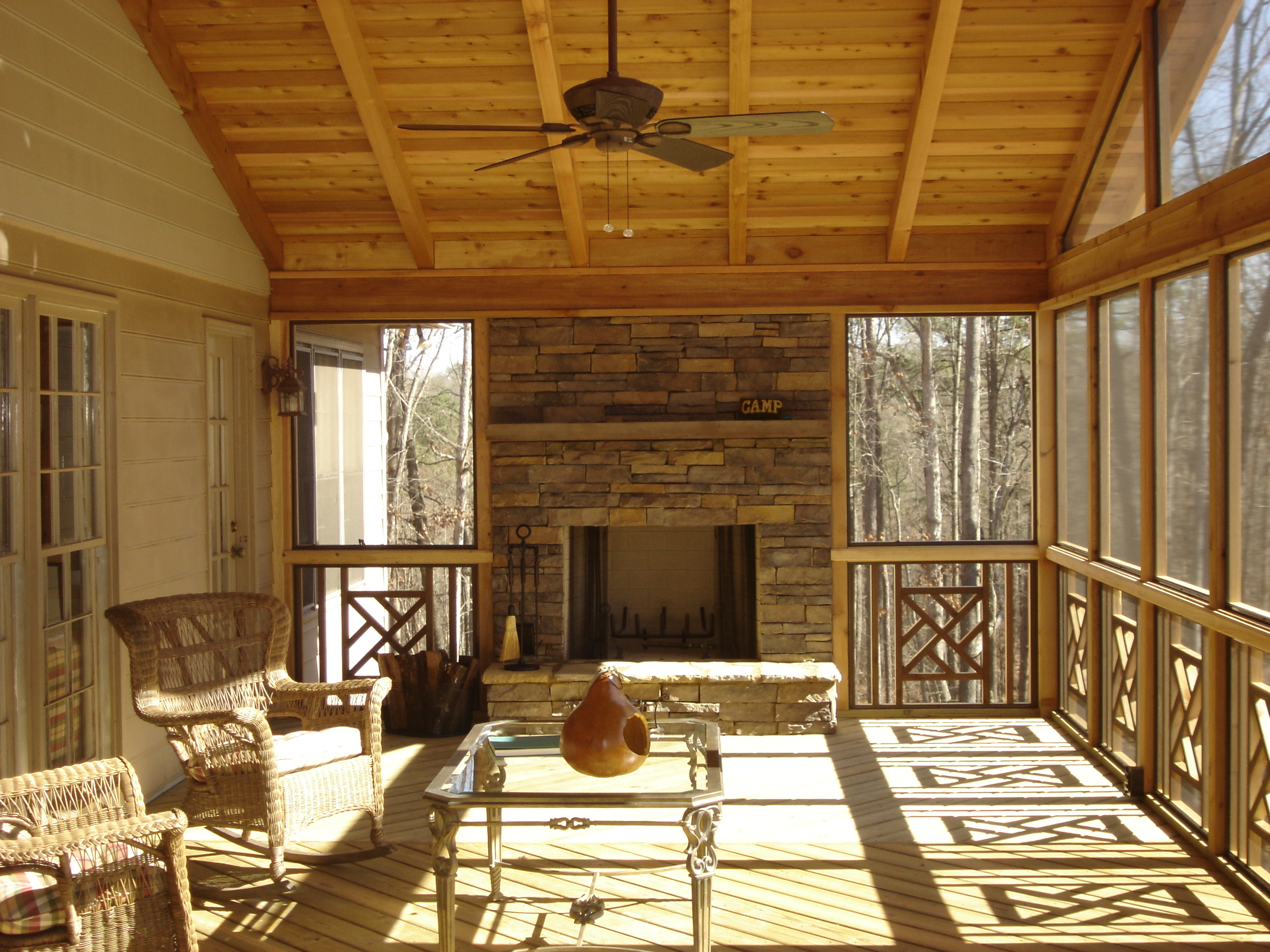 Screened Porch And Patio Ideas : St louis deck builders railing ideas by archadeck