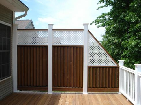 Tall Deck Rail for Privacy, by Archadeck