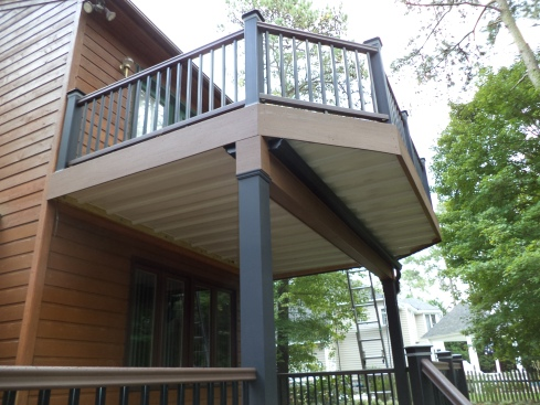 Two Story Deck with Underdecking, by Archadeck