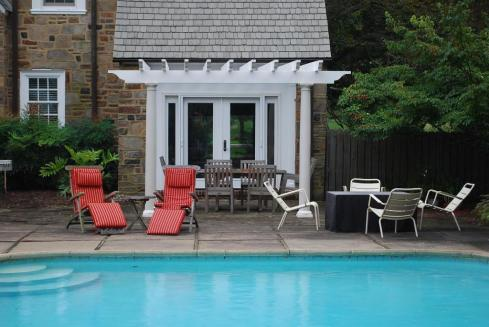 Vinyl Pergola for Backyard Pool, by Archadeck