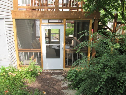 Elevated Deck with Under Deck Screened In Patio by Archadeck, St. Louis Mo