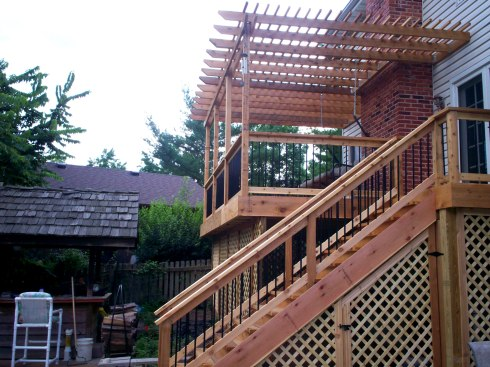 Elevated Deck with Under Deck Storage by Archadeck