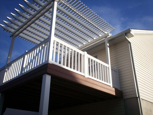 Elevated, Low Maintenance Deck with Shade by Archadeck, St. Louis Mo