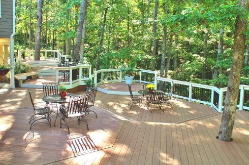 Large Multilevel Deck by Archadeck