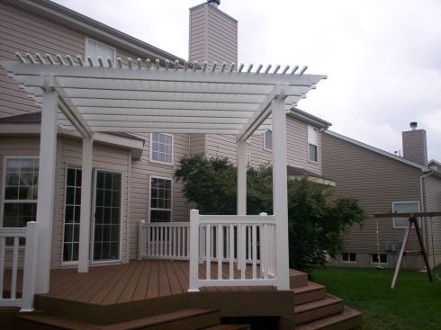 Low Level Deck in St. Louis with Shade Pergola by Archadeck