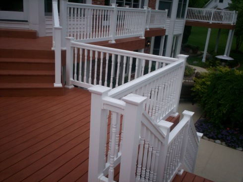 Redecking Project with Level Changes in St. Louis West County, by Archadeck