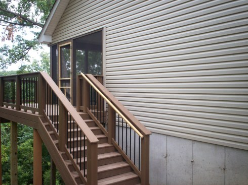 Composite Elevated Screened In Deck, St. Charles Mo, by Archadeck in St. Louis