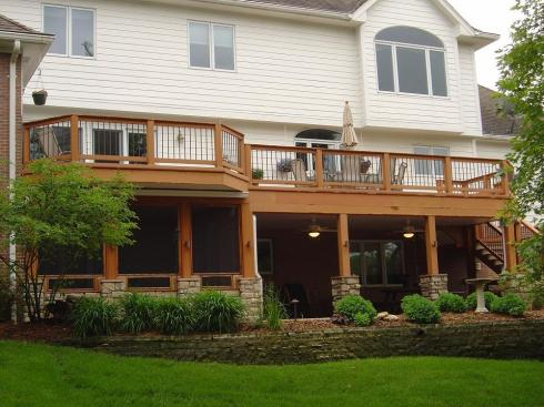 Deck with Under Deck Screened Room over Patio by Archadeck
