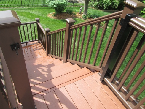 Kona TimberTech Rails, AZEK PVC Decking, Mountain Cedar, South County, St. Louis Mo by Archadeck